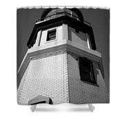 Splitrock Lighthouse 3 Bw Shower Curtain
