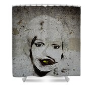Spoiled Portrait In The Wall Shower Curtain