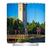 Spokane Clocktower Shower Curtain