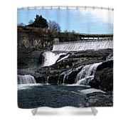 Spokane Falls At Low Tide Shower Curtain