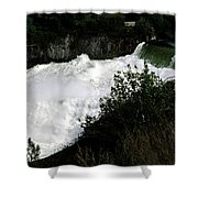 Spokane Falls In The Spring Shower Curtain