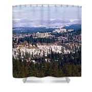 Spokane View 2-4-14 Shower Curtain
