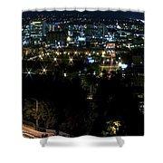 Spokane Washington Skyline At Night Shower Curtain