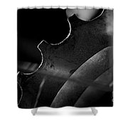 Spokes And Sprocket Shower Curtain
