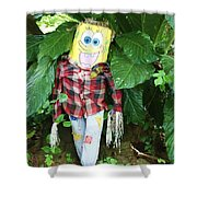Sponge Bob Scarecrow Shower Curtain