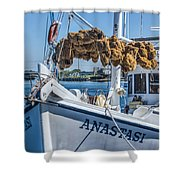 Sponges Drying Shower Curtain