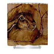 Spooked Hare Shower Curtain