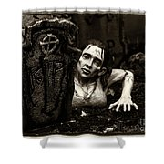 Zombie Lady Sepia Shower Curtain