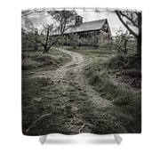 Spooky Apple Orchard Shower Curtain