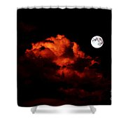Spooky Clouds With Glowing Moon Shower Curtain