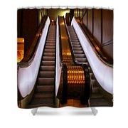 Spooky Escalator At The Brown Palace In Denver Shower Curtain