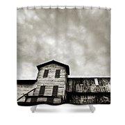 Spooky Grain Elevator Shower Curtain