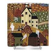 Spooky Hallow Shower Curtain