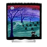 Spooky Night Shower Curtain