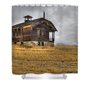 Spooky Old School House Shower Curtain