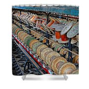 Spools At Lonaconing Silk Mill Shower Curtain