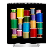 Spools Of Thread Shower Curtain by Jim Hughes