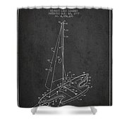 Sport Sailboat Patent From 1977 - Dark Shower Curtain
