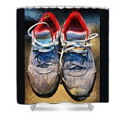 Sport Shoes Drawing Shower Curtain