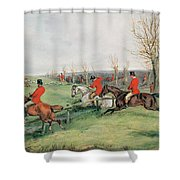 Sporting Scene, 19th Century Shower Curtain