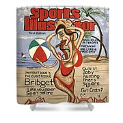Sports Illustrator Swimsuit Edition Shower Curtain