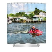 Sports - Man On Jet Ski Shower Curtain