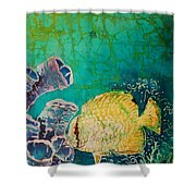 Spotfin Butterflyfish  Shower Curtain