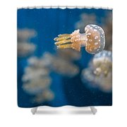 Spotted Jelly Aliens 1 Shower Curtain