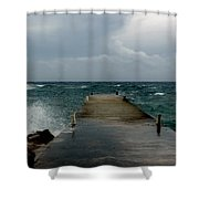 Spotts Landing Shower Curtain