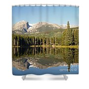 Sprague Lake In Rocky Mountain National Park Shower Curtain