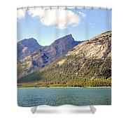 Spray Lake Mountains Shower Curtain