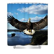 Spread Eagle  Mississippi River Shower Curtain
