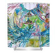 Spread Of Energies Shower Curtain