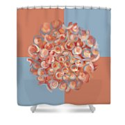 Spreeze Coral Shower Curtain