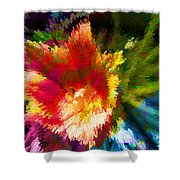 Spring Abstraction I Shower Curtain