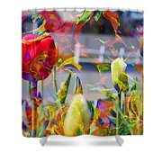 Spring Abstraction IIi Shower Curtain