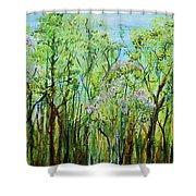 Spring Arpeggio Shower Curtain