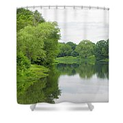 Spring At Kings Pond Shower Curtain