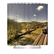 Spring At Seaton Junction  Shower Curtain