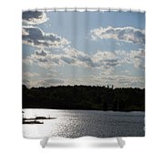 Spring At Smith Mountain Lake Shower Curtain