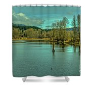 Spring At The Nicomen Slough Shower Curtain