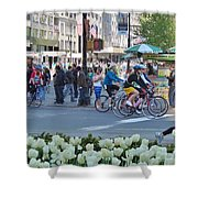 Spring Bike Event From New York To New Jersey Shower Curtain