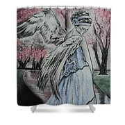 Spring Blossom Angel Shower Curtain