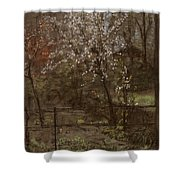 Spring Blossoms Shower Curtain by Henry Muhrmann