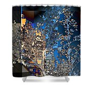 Spring Blossoms In The City - New York Shower Curtain