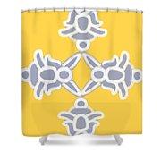 Spring Bunny Design Shower Curtain