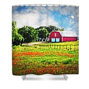 Spring Charm In The Hill Country Shower Curtain