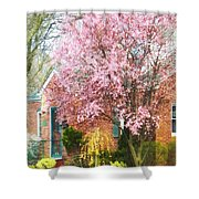 Spring - Cherry Tree By Brick House Shower Curtain