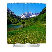 Spring Colors In Maroon Bells Shower Curtain