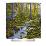 Spring Creek Shower Curtain